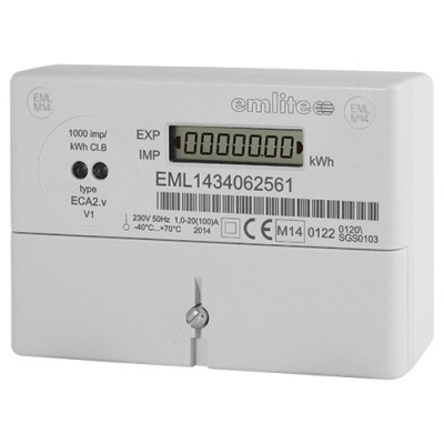 Emlite ECA2  Single Phase kW Hour Generation Meter